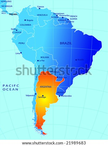 Political map of Argentina