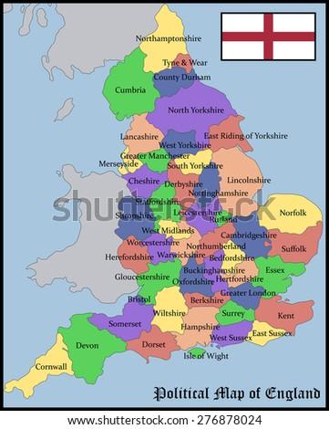 Political map england vector de stock276878024 shutterstock gumiabroncs Choice Image