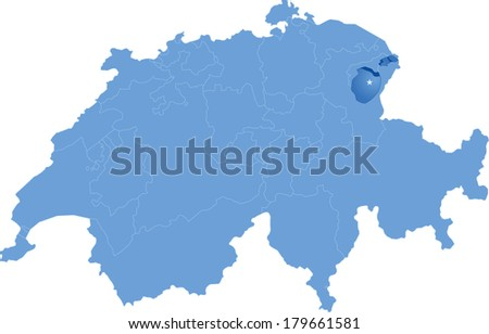 Appenzell Innerrhoden Map Images Stock Photos Vectors Shutterstock