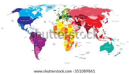 Political Map of the World - stock vector