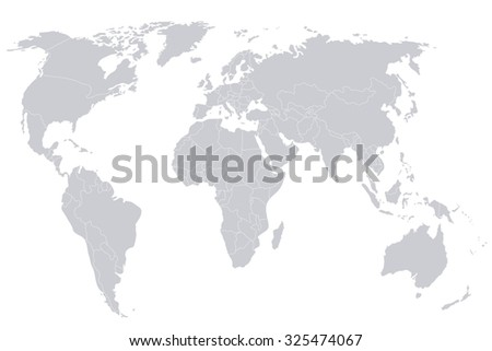 Political map world gray world mapcountries stock vector 325474067 political map of the world gray world map countries vector illustration gumiabroncs Gallery