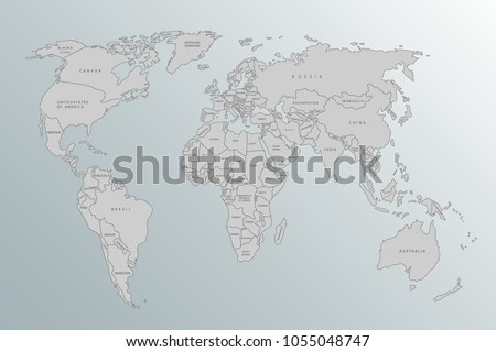 Political map world gray world map stock vector 1055048747 political map of the world gray world map of countries on a gray background gumiabroncs Gallery
