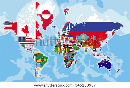 Political map world country flags stock vector royalty free political map world country flags stock vector royalty free 345250937 shutterstock gumiabroncs Images