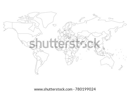 Political map world dots instead small stock vector 780199024 political map of world with dots instead of small states blank map for school quiz gumiabroncs Image collections