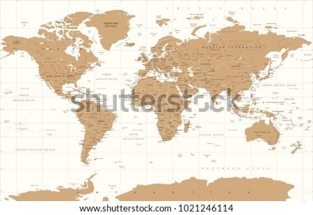 Political vintage golden world map vector vector de stock1021246114 political vintage golden world map vector illustration gumiabroncs Choice Image