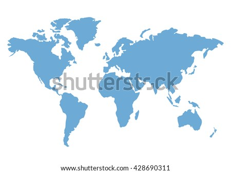 Political World Map - stock vector