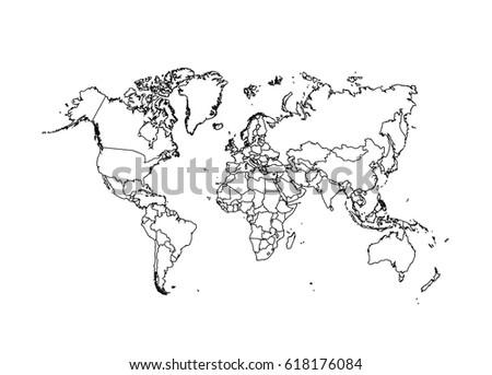 Political world map vector illustration vectores en stock 618176084 political world map vector illustration gumiabroncs Choice Image