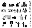Politics, Voting and elections icons - vector icon set - stock photo