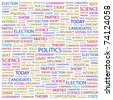 POLITICS. Word collage on white background. Vector illustration. Illustration with different association terms. - stock photo