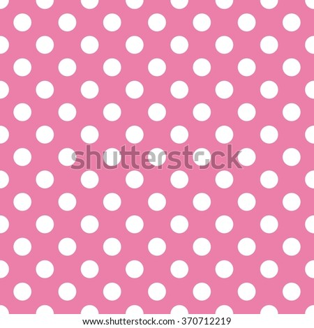 Polka dot background - pink and white vector. - stock vector