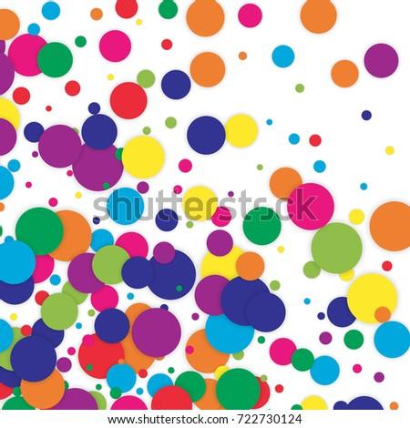polka dot colored confetti clip art stock vector 722730124 rh shutterstock com pink polka dot background clipart red polka dot background clipart