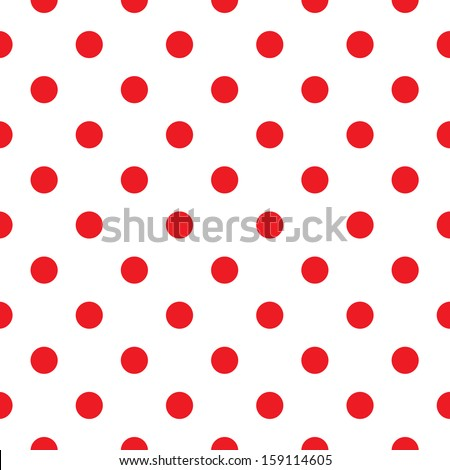 Polka dot fabric. Retro vector background or pattern - stock vector