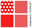 polka dot patterns --- contains global color and can be easily edited - stock photo