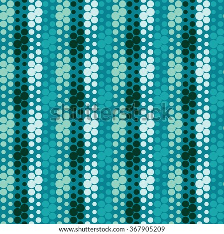 Polka dot seamless pattern, colorful striped pattern, abstract geometric background - stock vector