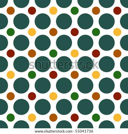 Polka Dot Vector Pattern - stock vector
