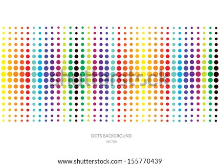 polka dots background - stock vector