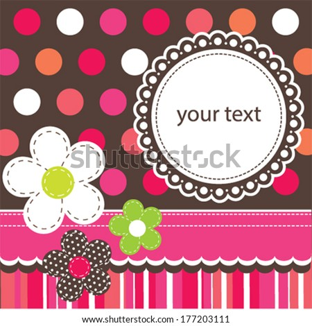 polka dots pattern invitation card background vector illustration - stock vector