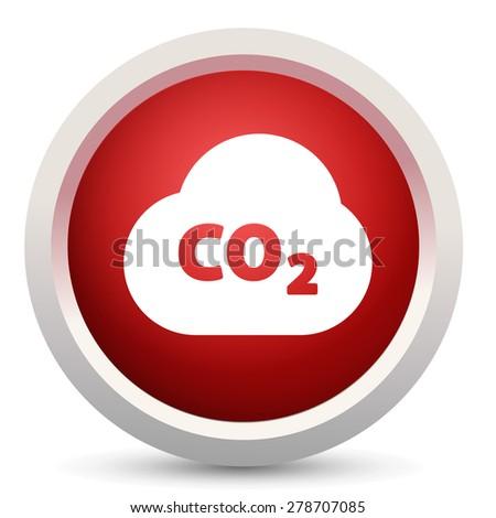 pollution co2 icon  - stock vector