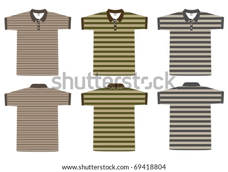 Polo shirt design Horizontal Vector template. front and back view - stock vector