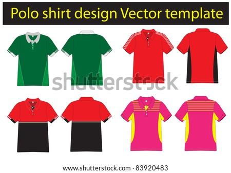 Tennis shirt stock images royalty free images vectors for Polo shirt design template