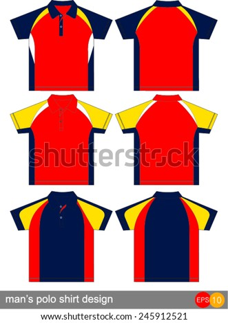 polo shirt design Vector template  - stock vector