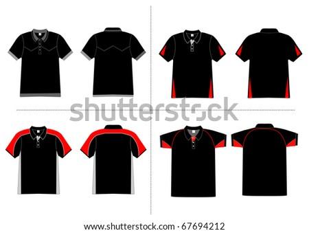 polo shirt design Vector template - stock vector