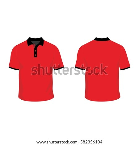 Polo Shirt Template Mock Stock Vector (2018) 582356104 - Shutterstock