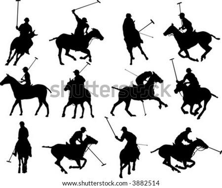 Polo silhouettes - stock vector