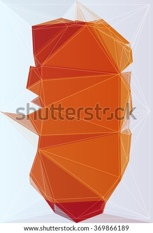 Poly triangular trendy color background