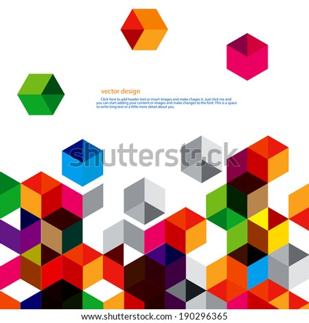 Polygon abstract vector design