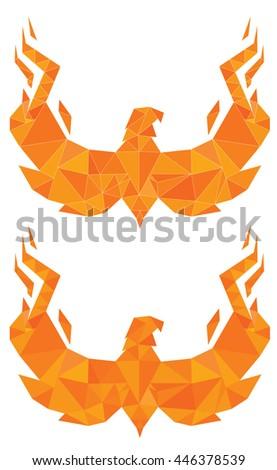 Polygon Art Phoenix - stock vector
