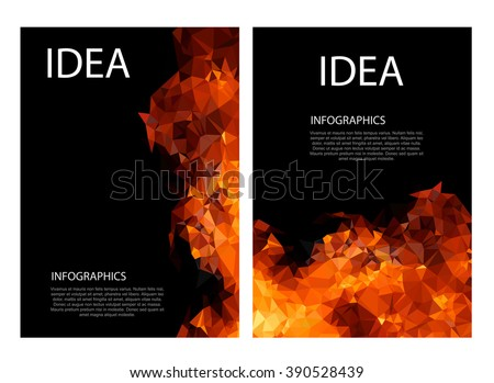 polygon fire layout paper concept easy editable