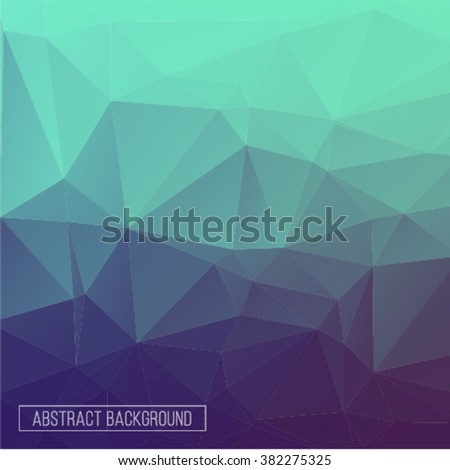 polygon pattern. hexagon background. triangle background, Design element - stock vector