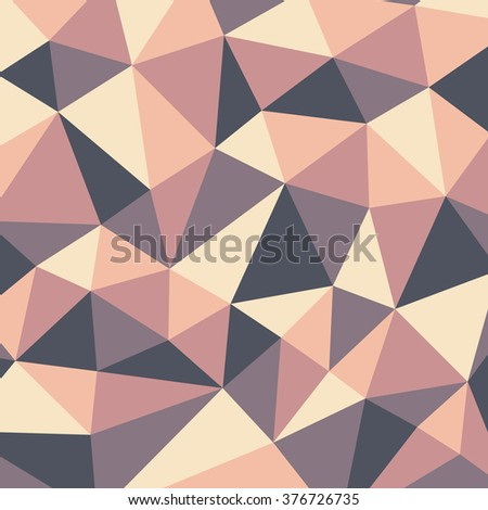 Polygonal abstract background - vector pattern in beige, pink, yellow colors. Geometric backdrop. Web site wallpaper.
