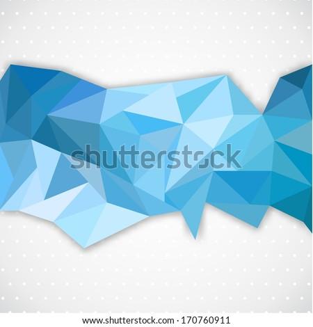 Polygonal abstract line. Vector illustration - stock vector