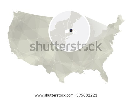 Massachusetts State On Usa Map Massachusetts Stock Vector - Us map massachusetts