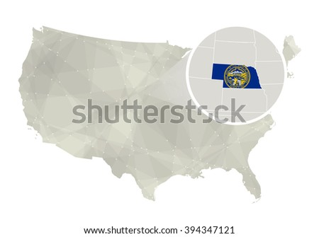 Lincoln Nebraska Stock Images RoyaltyFree Images Vectors - Nebraska on the us map