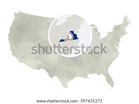 Virginia State Flag Stock Images RoyaltyFree Images Vectors - Us map virginia state