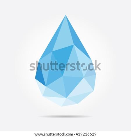 Polygonal Drop in Vector - stock vector