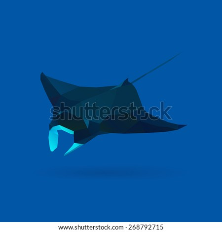polygonal illustration of manta