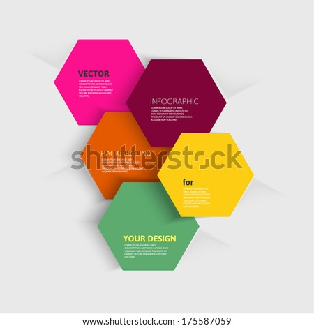 Polygonal infographic elements. Paper shapes - stock vector