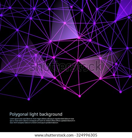 Polygonal light background. Vector illustration