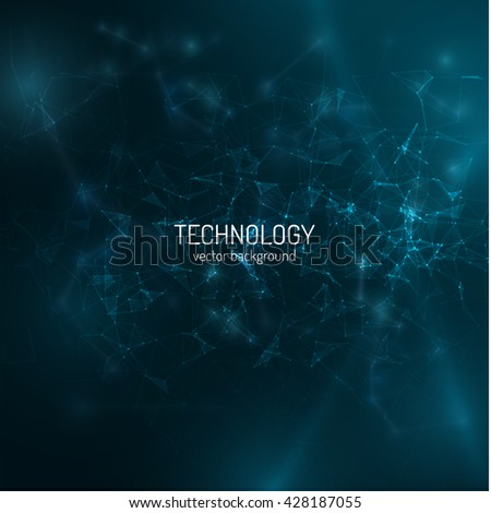 Polygonal technology background. Vector eps10. Connections, can be used as concept of internet technology, communication. - stock vector