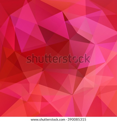 Polygonal vector background. Can be used in cover design, book design, website background. Vector illustration. Pink, red colors.  - stock vector