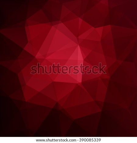 Polygonal vector background. Can be used in cover design, book design, website background. Vector illustration. Dark red colors.  - stock vector