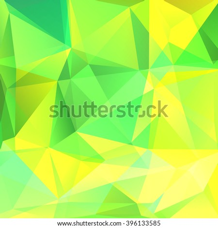 Polygonal vector background. Can be used in cover design, book design, website background. Vector illustration. Yellow, green colors - stock vector