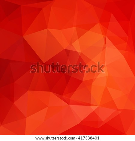 Polygonal vector background. Can be used in cover design, book design, website background. Vector illustration. Orange, red colors.  - stock vector
