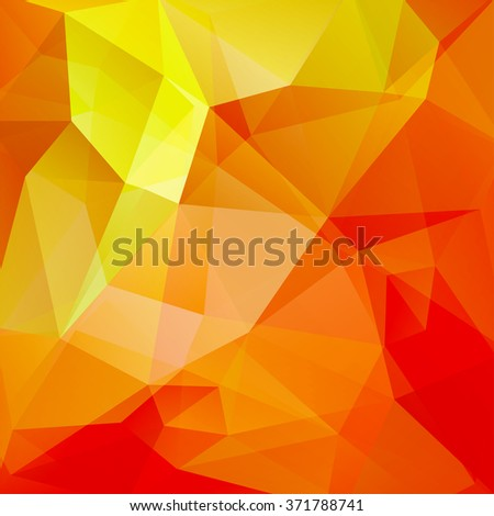 Polygonal vector background. Red, orange, yellow colors. Can be used in cover design, book design, website background. Vector illustration - stock vector