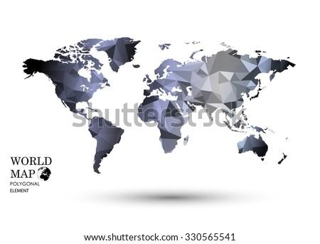 Polygonal world map vector stock vector 330565541 shutterstock polygonal world map vector gumiabroncs Images
