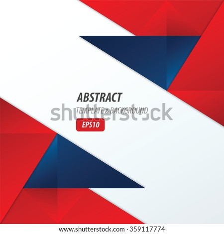 Polygons Design Template Red And Blue Color